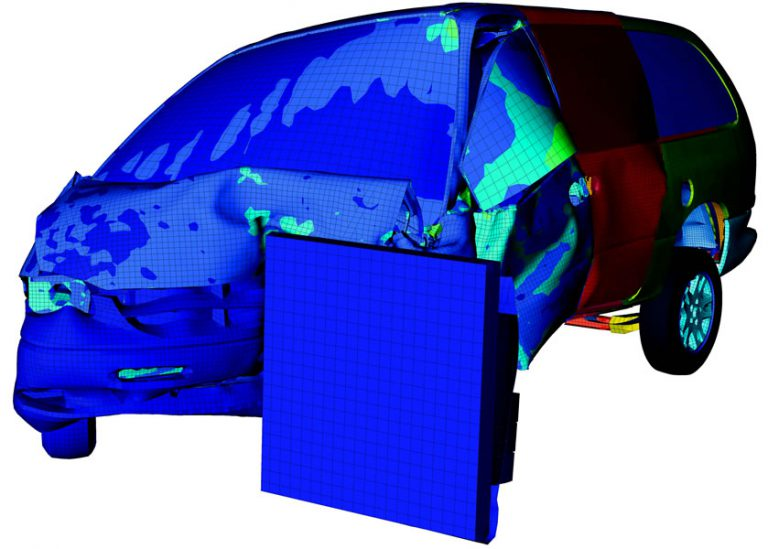 Composite Crash Test Simulation FEA Ansys Abaqus Lsdyna Finite element
