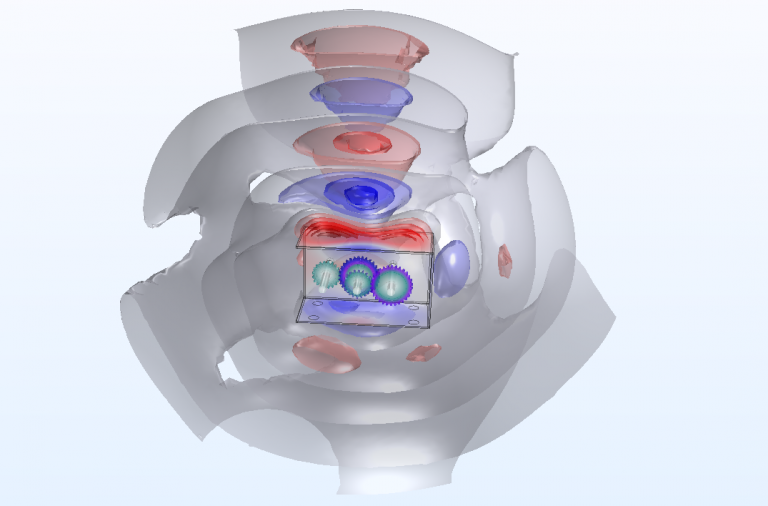Geartrain Acoustic Simulation- MultiBody Dynamics and FEA Acoustic Solver