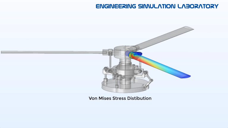 helicopter Swashplate rotor blade MBD FEA Simulation 2