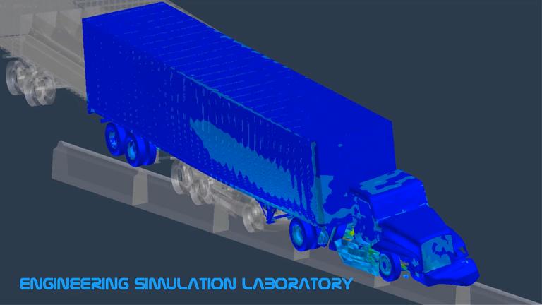 Truck and Trailer Finite Element Simulation Crash Test Crashworthiness Ls-Dyna Abaqus PAM-CRASH