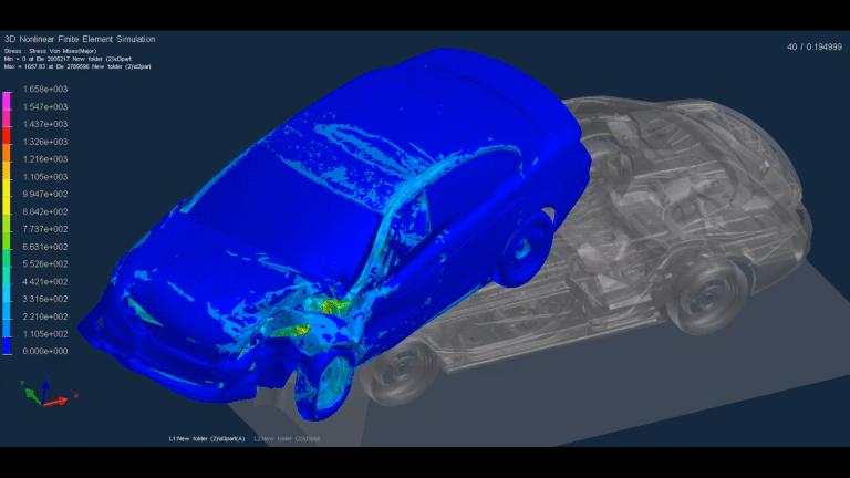 Crash Test FEA Simulation Abaqus Ansys Ls-dyna ESIMLAB
