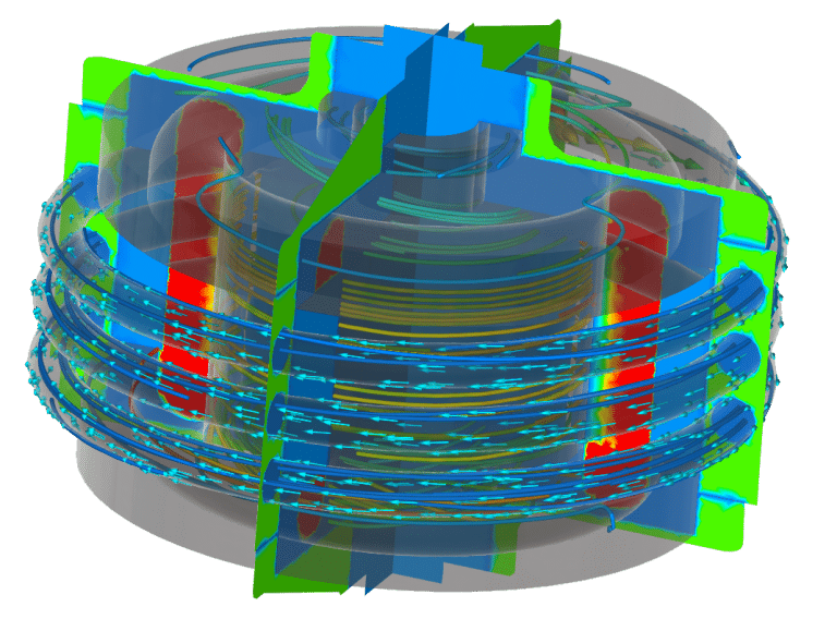 Electro Motor Hybrid and electric vehicle Thermal Design cooling CFD FEA Simulation Two way FSI magnet machines Ansys Fluent Maxwell Siemens Star-ccm+ speed Jmag