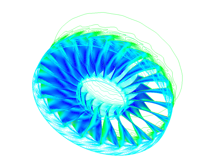 Flutter effect simulation NLH Non-Linear Harmonic coupled CFD FEA two way FSI Turbomachinery Ansys Fluent Abaqus Siemens Star-ccm Numeca Fine Nastran